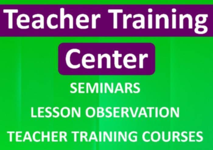 TEACHER TRAINING CENTER